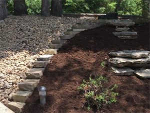 Custom hillside landscaping