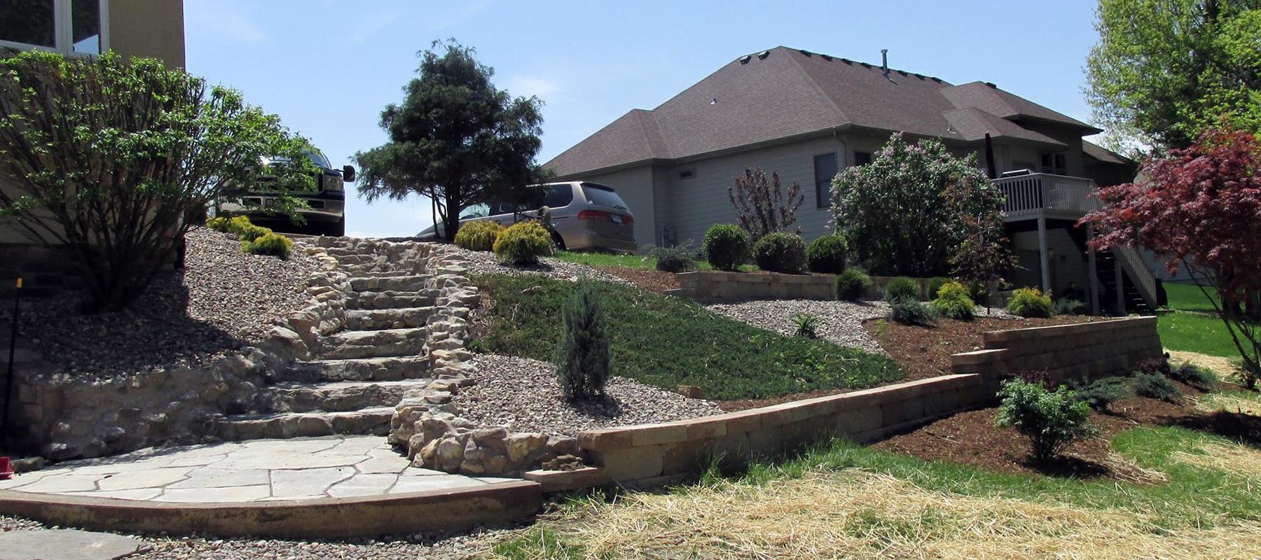 Custom built stairway